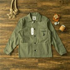 Men's Vintage Replica US Army WWII USMC Coat Military Work P41 Jacket Cotton New