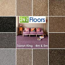 Saxon King Carpet - Flecked Pile, Stain Resistant, Durable, Soft Twist Pile