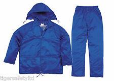 Delta Plus Panoply EN400 Royal Blue PVC Waterproof Rainsuit Trousers Jacket Coat