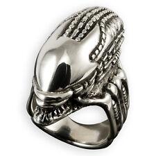 925 anillo de plata Alien Skull controles style calavera tatuaje Gothic Caballero Biker WGT