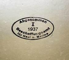 WW2 German M35 1937 ET SE Shell Helmet Dome Acceptance Stamp Procurement Office