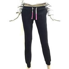 Sun68 Pantalone Lungo per Sport in Felpa Donna Nero Long Pant Sport Cott. 17251