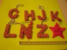 New ! Ornament  Letter A B C D E F G H I  J K L M N O P Q R S T U V W X Y Z