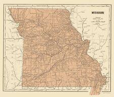 Old State Map - Missouri - Morse 1845 - 23 x 26.88