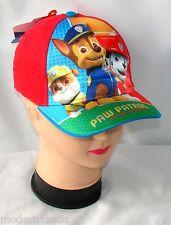 Paw Patrol cappello Premium con visiera berretto Bambino Baseball tg 50,52 rosso