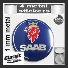 METAL STICKERS WHEELS CENTER CAPS Centro LLantas Classic 4pcs SAAB 2