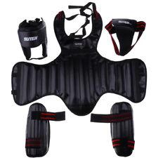 Coquille de Boxe+Casque+Protège-poitrine+Protège-jambe Protection pour Boxing