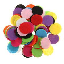 100x Confettis Pompons Multicoloré Boules Crochet Décor Objet Xmas Sapin