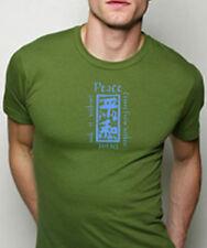 NEWTG American Apparel Kanji Peace ORGANIC mens shirt M