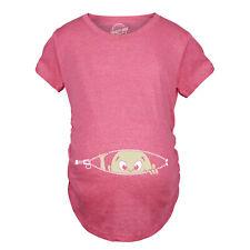 Maternity Baby Peeking Shirt Funny Pregnancy Cute Announcement Pregnant T shirts