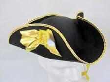 Tricorn Hat Felt Black & Pirate Dick Turpin