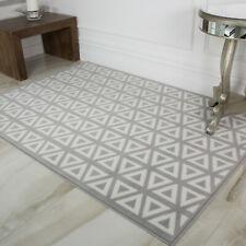 Ash Grey Modern Geometric Rug Soft Best Moroccan Diamond Tiles Living Room Rugs