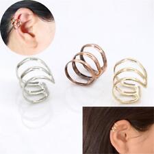 2PCs Unisex Punk Fashion Ear Clip Jewelry No Pierced Cuff Earrings