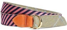 NEW Mens Brooks Brothers Kiel James Patrick Handmade Belt Reversible Silk *F6
