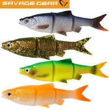 Savage Gear Soft Swim /& Jerk 19,0cm 60g Motor Oil 2 Stück Gummifische Hechtköder