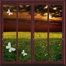 BUTTERFLY VINYL ETCH PATIO/ DOOR/ WINDOW/ MIRROR FROSTED GLASS ART STICKERS