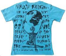 Yakuza Ink Designer Skull Coole Fashion Vintage Rock Star WoW Clubwear T-Shirt S