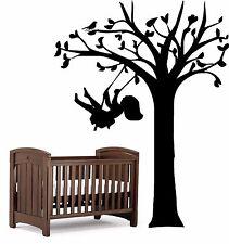 GIRL SWINGING ON A TREE Wall Art Sticker, great for Nursery, kids bedroom