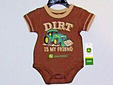 John Deere boys T-shirt brown short sleeve or one-piece w/DIRT IS MY FRIEND