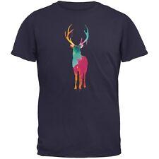 Splatter Deer Navy Adult T-Shirt