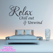 Relax Chillout y Unwind frase Adhesivo de pared - Salón Dormitorio Baño X37