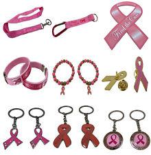 Pink Ribbon Breast Cancer Awareness Neck Lanyard Key Chain Bracelet Pendant