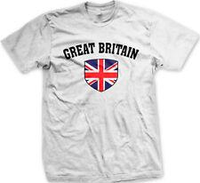 Great Britain England Flag Shield Union Jack New Men's T-shirt