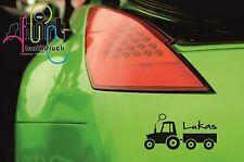 A 873 - Name Traktor Wunschname Autoaufkleber Sticker Aufkleber