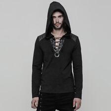 Punk Rave Men's Hooded Long Sleeve Sexy Hoodie Jumper Sweater