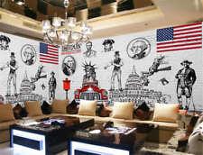 Figure In American Full Wall Mural Photo Wallpaper Printing 3D Decor Kid Home