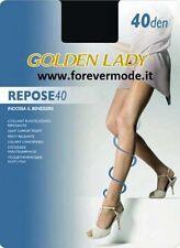 5 Collant donna Golden Lady in velati, riposanti ed elasticizzati art Repose 40