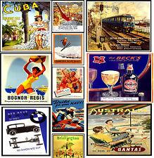 LAMINATED VINTAGE RETRO TRAVEL & RAILWAYS A4 Posters Nostalgic Home Art Print