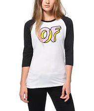 Odd Future OFWGKTA OF DONUT Baseball Raglan Girls T-Shirt NWT 100% Authentic