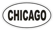 Chicago Oval Bumper Sticker or Helmet Sticker D901