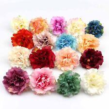 10Pcs Artificial Silk Carnation Flowers Heads Buds Petals Bouquets Wedding Decor