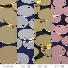 "1/2"" Brass Round Stamping Blanks with Hole diy bracelet charm 10pcs 102272"