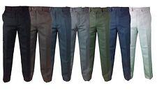 Da Uomo fialle leggero Ufficio Formale Tuta Pantaloni 32–50 Comfort Morbido Pantaloni