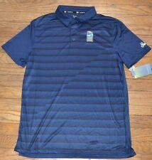 Tek Gear Cooltek Quick Dry Blue with Black Collar Performance Golf Shirt Drytek