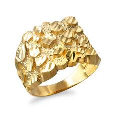 Gold Mens DC Nugget Ring (Yellow, White, Rose gold, 10K 14K)