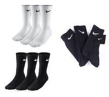 6 Paar Nike Sport/Tennis Socken schwarz oder weiß  Gr. 34-50 Crew SX4508 *NEU*