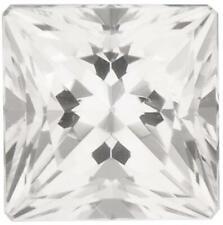 Natural Fine White Topaz - Square Princess - Brazil - AAA Grade