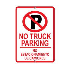 No Truck Parking No Estacionamiento De Camiones Style 2 Aluminum METAL Sign