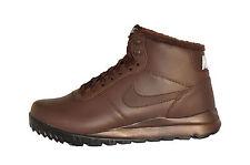 Nike HOODLAND LEATHER Pelle 654887-220 MARRONE stivali scarpe invernali new