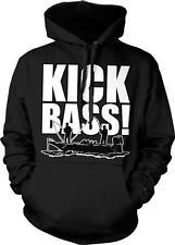 Kick Bass Fishing Humor Joke Funny Fisherman Humor Pun Parody Hoodie Pullover