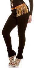 Curvy Girls Damen Sexy Koucla Push Up Jeanshose Skinny Jeans Hose mit Gürtel