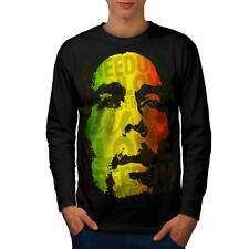 Marley Bob Peace Rasta Men Long Sleeve T-shirt NEW   Wellcoda