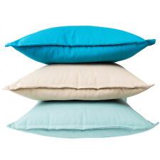 100% Premium Cotton Home Decor Cushion Cover/Throw Pillow Multicolour Solid