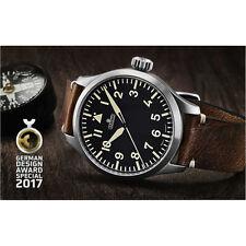 ARISTO XL Automatikuhr 7H96-99 Edelstahl Leder 5ATM Schweizer ETA Uhrwerk Saphir