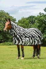 Bucas Buzz-Off Zebra Full Neck Fliegendecke Ekzemerdecke Weidedecke