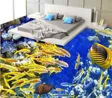 3d Fish Stand 204 Floor Photo Wallpaper Mural Wall Print Decal